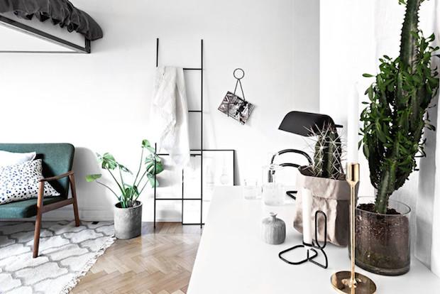 PUNTXET Aprovechando todos los rincones en un estudio de 29m² #decoracion #decoration #hogar #home #estilonordico #estiloescandinavo