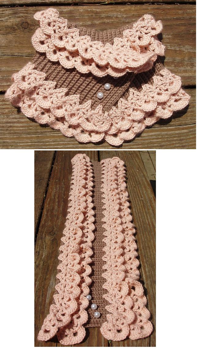 Patron Crochet Cuello de Ondas