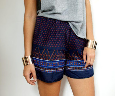 DIY Scarf Shorts