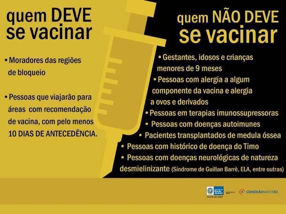 Febre Amarela quem não pode tomar a vacina?
