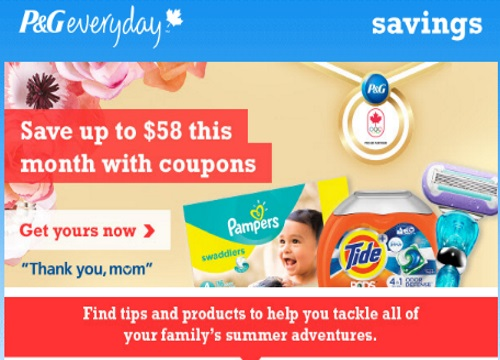 P&G brandSAVER Print-at-Home May Edition Coupons