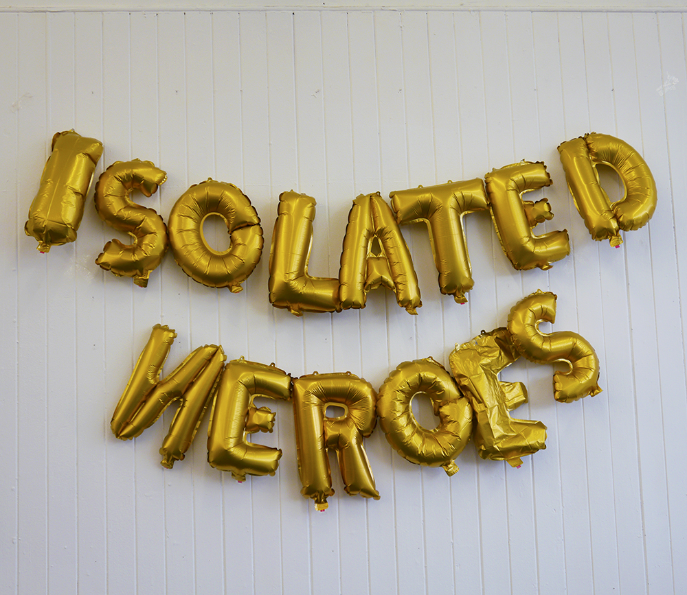 Isolated Heroes, Scottish Design, Pop up shop, balloons, letter balloons, gold balloons, pop up, Glasgow, South Block, Scottish blogger, Dundee designer