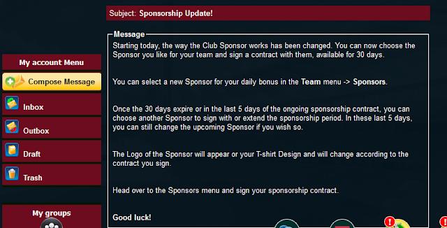 راعي رسمي للفريق الخاص بك داخل جول تايكون الربحية GoalTycoon New Sponsorship Update