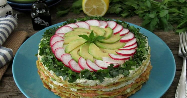 Кабачковый торт с начинкой из ... - Постигая искусство кулинарии...