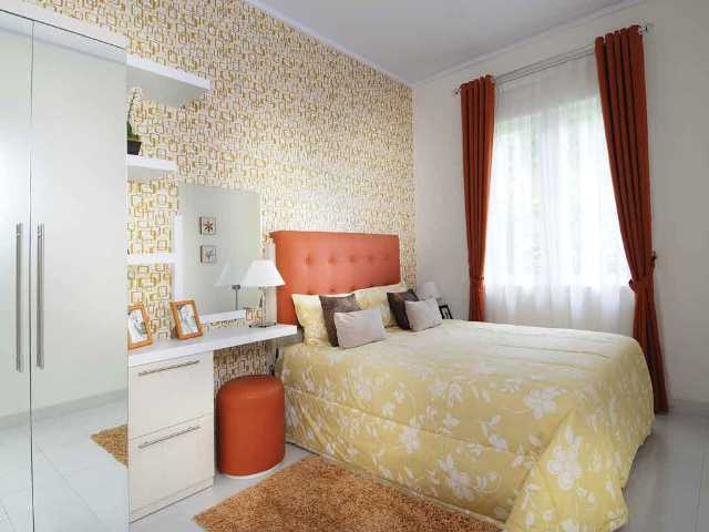 cara menghias kamar tidur dengan kertas kado