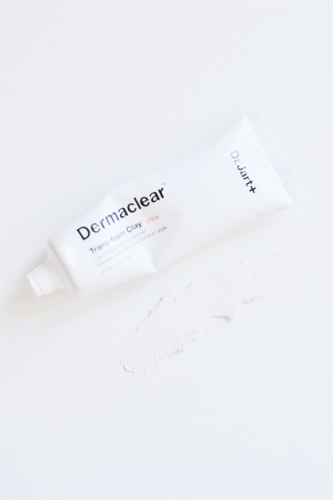 dr jart dermaclear trans foam clay moisturising pink review