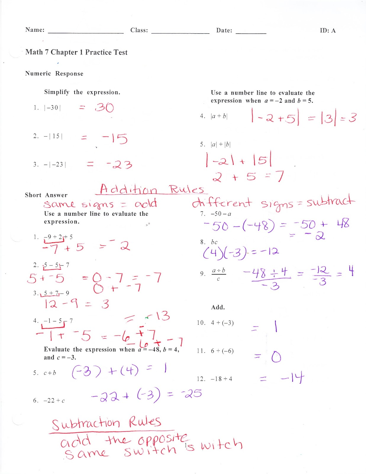 Ms Jean S Classroom Blog Chapter 1 Practice Test Answers