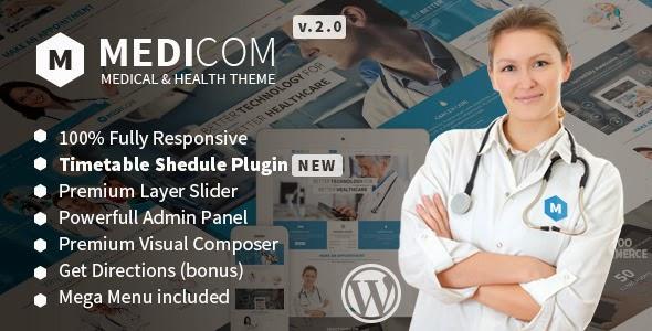 Medicom - Medical & Health Wordpress Theme