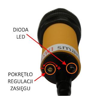 Schodowy czujnik ruchu do LED 12V - regulacja zasięgu