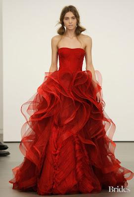 vera wang spring 2013 wedding dresses 10 - Vestidos de Noiva Coloridos - Inspirações