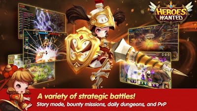 Sekarang ini aku akan kembali untuk membagikan kepada teman semuanya sebuah game android Unduh Game Heroes Wanted: Quest RPG Apk v1.1.8.27498 (God Mod/Massive Damage)