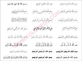 jenis font arab