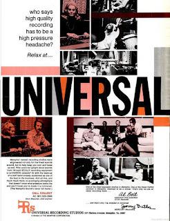 Universal Recording Studios. A 1970 ad in Billboard magazine.