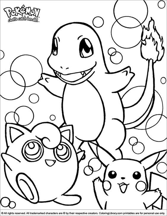 Tranh tô màu Pokemon 09