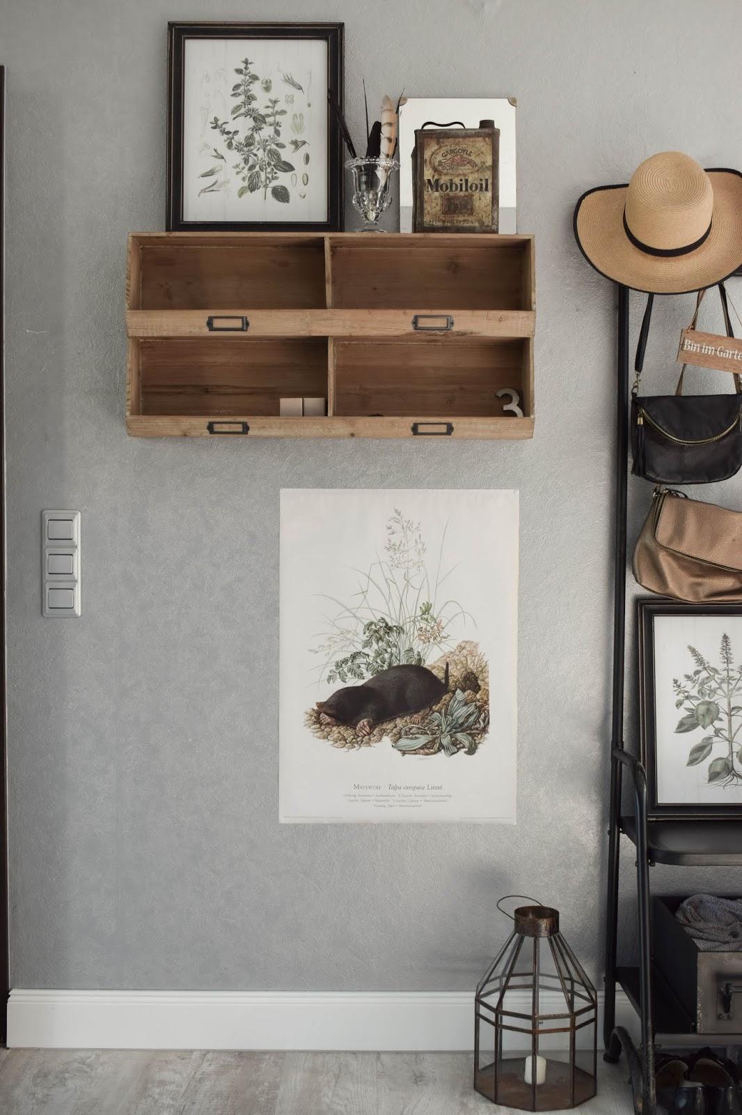Garderobe Diele Flur Eingangsbereich Deko Dekoidee Interior Einrichtung botanisch 8