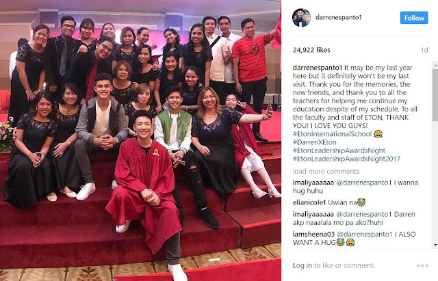 Darren Espanto Gains Medals At His School's Moving Up Ceremony!