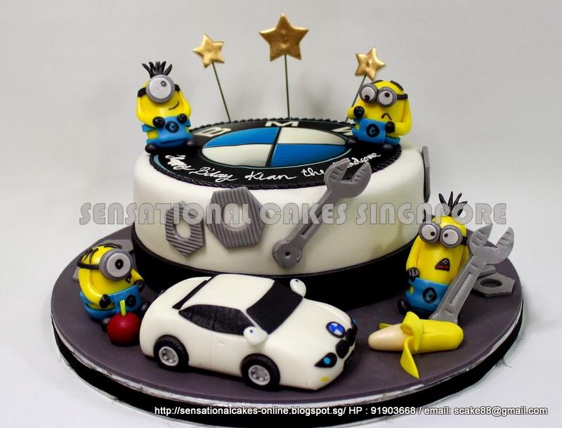 The Sensational Cakes A WHITE BMW 5 SERIES CAKE SINGAPORE PLAYING