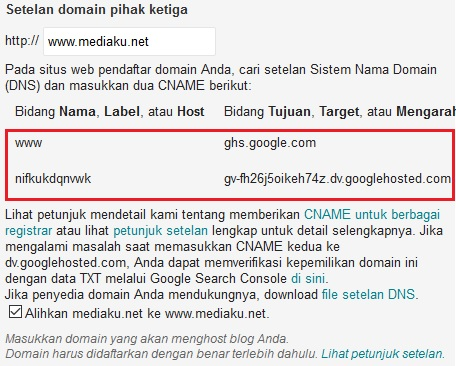 Gagal Pasang Domain Blogspot