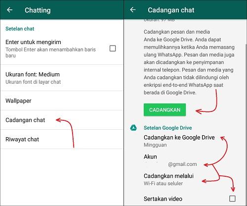 Cara Backup Chat WhatsApp Supaya Tidak Hilang di Android