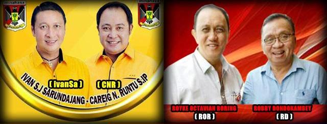 Dua pasang calon Bupati dan wakil Bupati Kabupaten Minahasa 2018