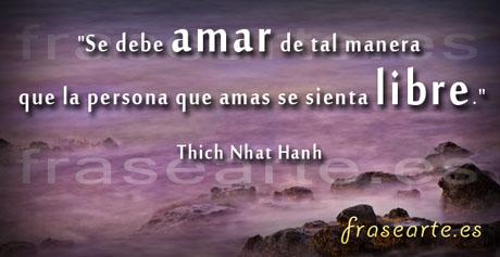 Frases para amar de Thich Nhat Hanh