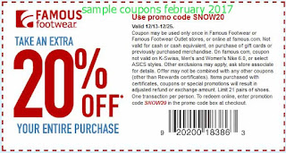 Famous Footwear coupons february