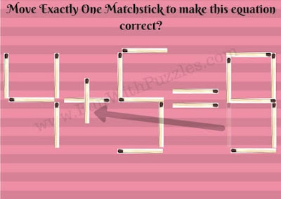 Quick Matchstick Maths Picture Puzzle Answer