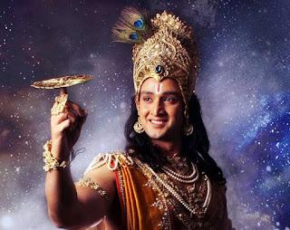 Foto Saurabh Raj Jain sebagai Lord Krishna di Mahabharata