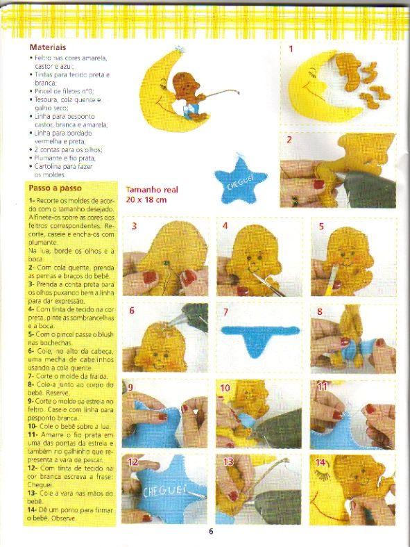 Feltro+3 - Enfeite de porta para maternidade menino