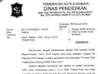 PENGUMUMAN HASIL SELEKSI OSN SD KOTA SURABAYA TAHUN 2018