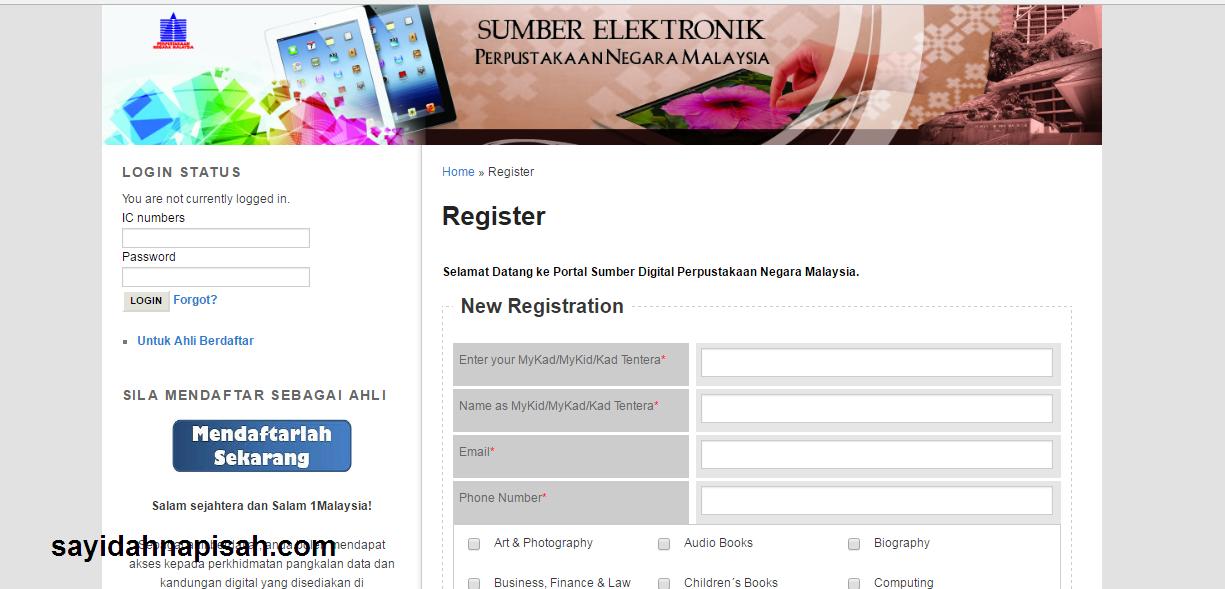 boleh baca buku Perpustakaan Negara Malaysia secara Online!