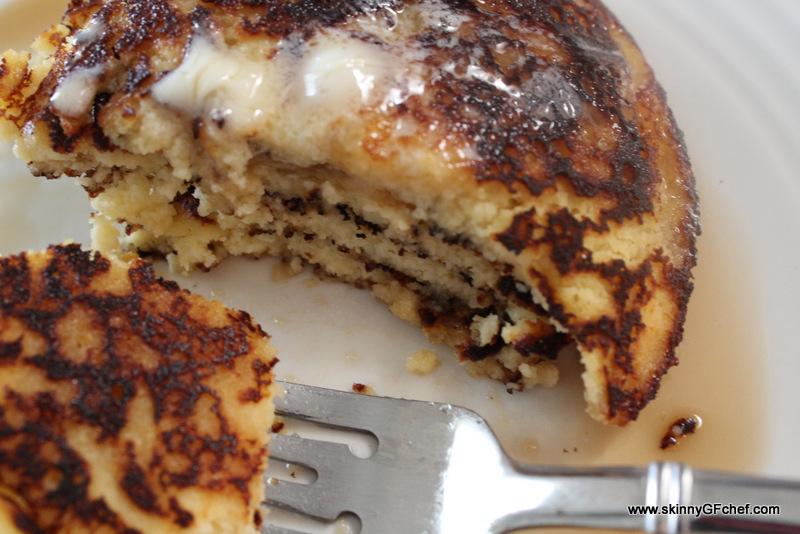 Gluten Free Peach Yogurt Coconut Flour Pancakes