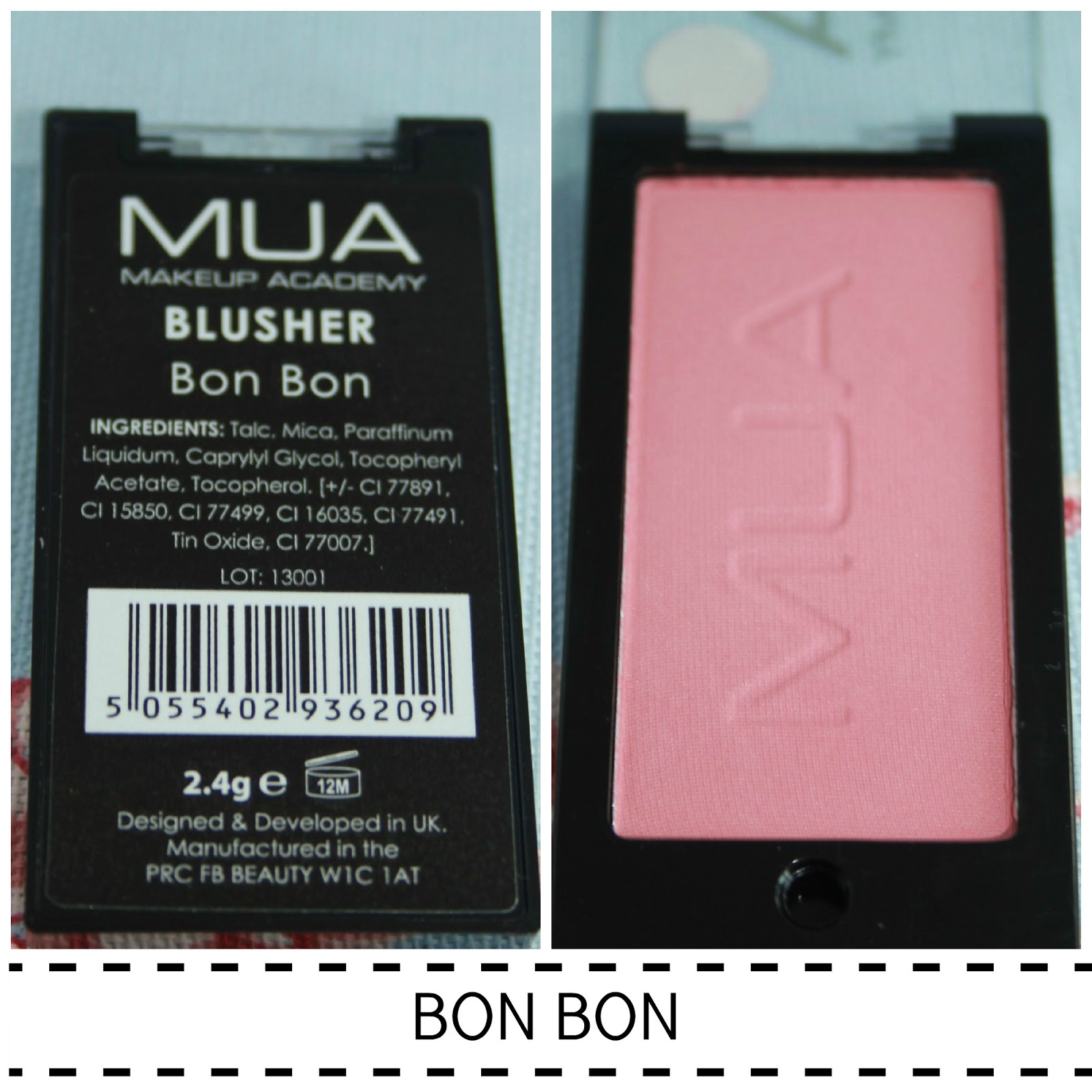 MUA POWDER BLUSHER SWATCH BON BON