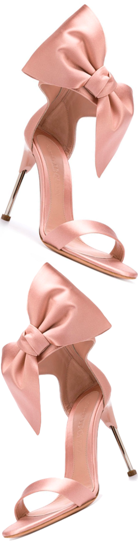ALEXANDER MCQUEEN Pin Heel Bow Sandals