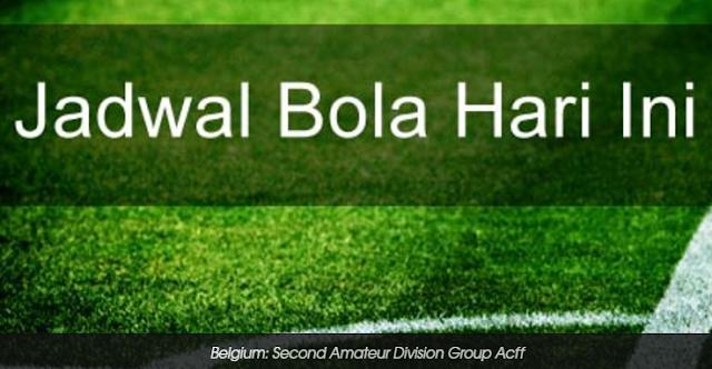 Berikut jadwal bola Belgium: Second Amateur Division Group Acff yang berhasil kami rangkum: