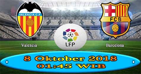 Prediksi Bola855 Valencia vs Barcelona 8 Oktober 2018