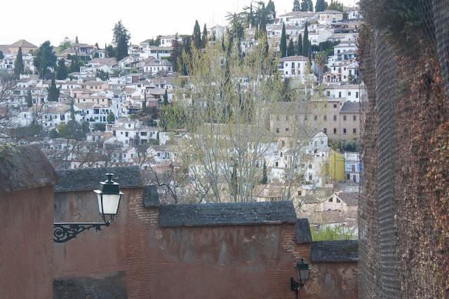 Albaicín, o antigo bairro mouro de Granada, na Andaluzia