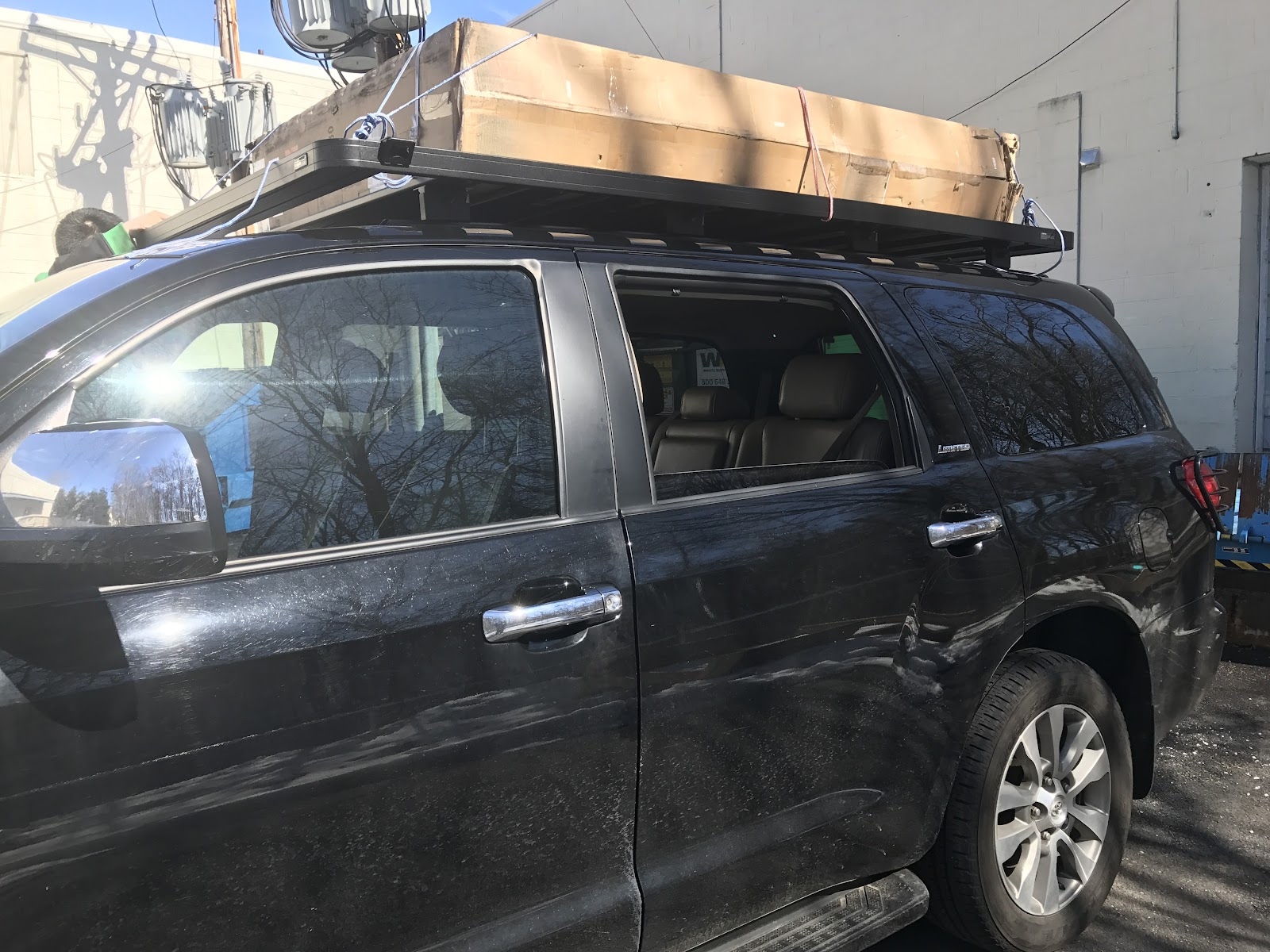 This is our first use of the roof rack and all I can say is AWESOME. I have a few tied down rings installed all corner of the roof rack. & Chin Travel with Toyota Sequoia : Tepui Roof Top Tent