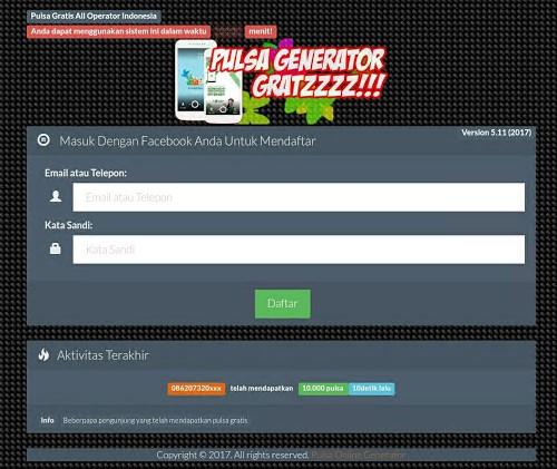 Kumpulan Script Phising Terbaru: Script Phising Facebook Generator Pulsa