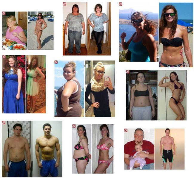 fotos de antes e depois do fator da perda de peso