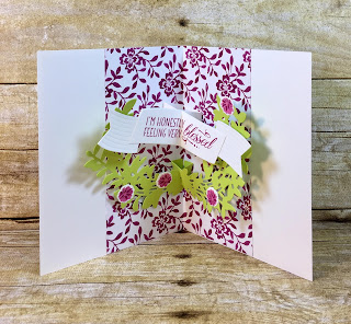 This all occasion card uses Stampin' Up!'s Lovely Friends stamp set and Lovely Laurels Thinlits.  We also used the Lots of Labels Framelits, Touches of Nature Elemtns, In Color BItty Bows, and Glitter Enamel Dots.  The full supply list is on the blog!  www.stamptherapist.com #stampinup #stamptherapist
