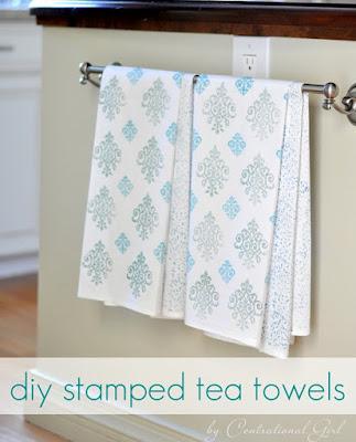 http://centsationalgirl.com/2012/01/stamped-tea-towels/