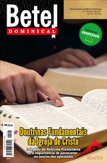 Editora Betel - Lição 2 - Pecado: uma realidade humana