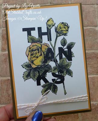 Floral Sentiments Thanks Card