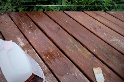 strip deck stain remove refinish wood pressure treated