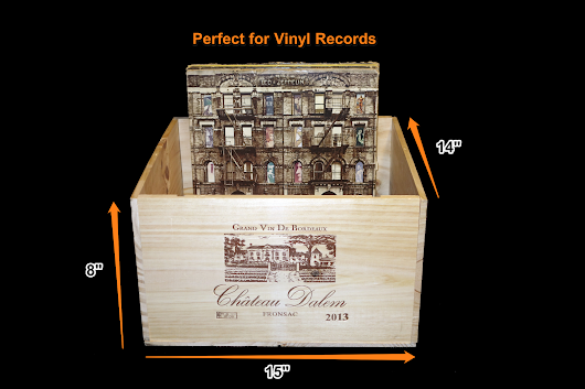 Vinyl Record Storage Wine Boxes