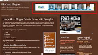 Add a Gadget Inside a Blogspot Header for Adsense Ads