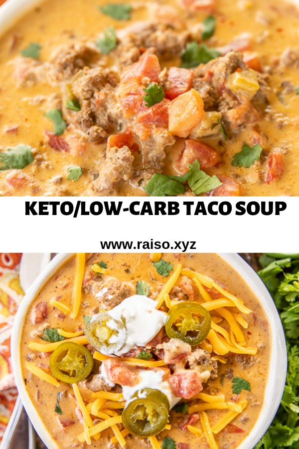 KETO/LOW-CARB TACO SOUP