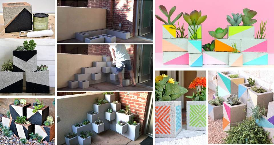 25STUN%257E1 25 Stunning Planter Concrete Blocks Alternatives to Transform Your Backyard And That Are All Your Front Porch Needs Interior
