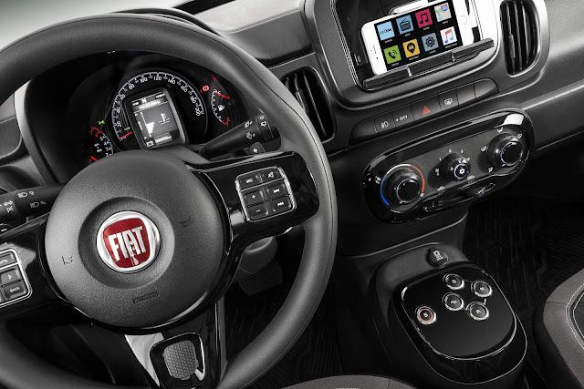 Novo Fiat Mobi 2018 - preços  - interior